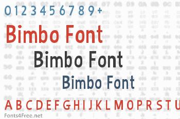 Bimbo Font
