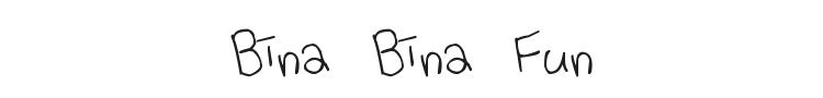 Bina Bina Fun Font Preview