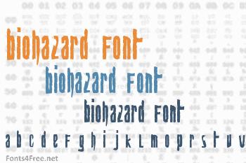 Biohazard Font