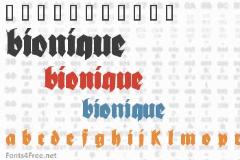 Bionique Font
