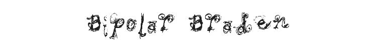 Bipolar Braden Font Preview