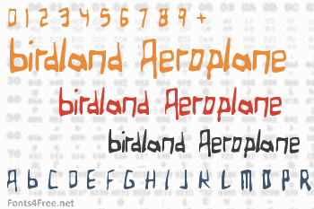 Birdland Aeroplane Font