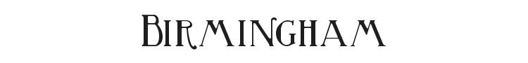 Birmingham Font Preview