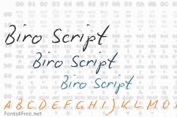 Biro Script Font