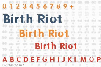Birth Riot Font