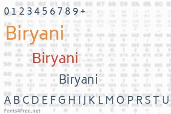 Biryani Font