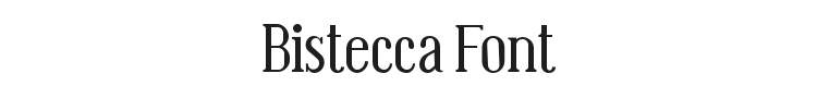 Bistecca Font Preview