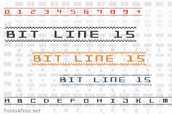 Bit Line 15 Font