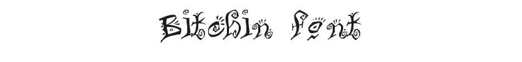 Bitchin Font