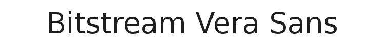 Bitstream Vera Sans Font Preview