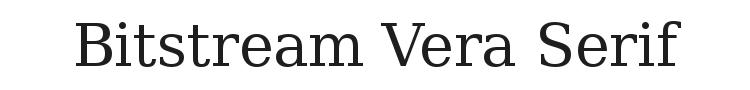 Bitstream Vera Serif Font Preview