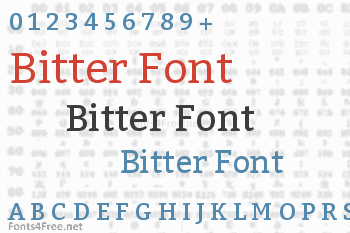 Font bitter free download   typeface.