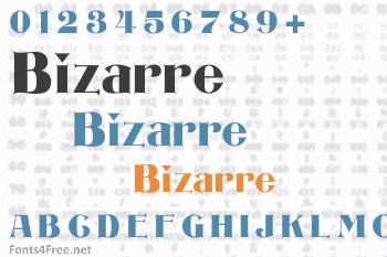 Bizarre Font