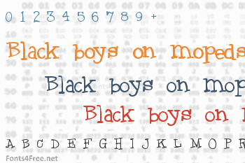Black boys on mopeds Font