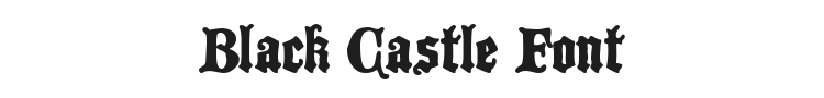 Black Castle Font Preview