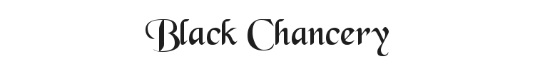 Black Chancery Font Preview