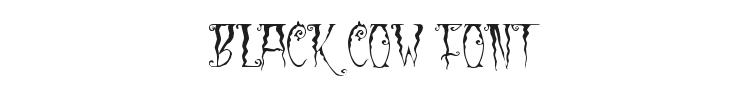Black Cow Font