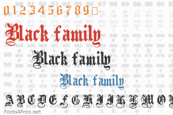 Black family Font