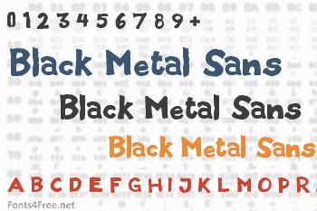 Black Metal Sans Font