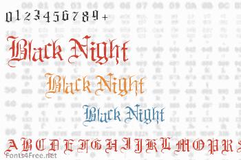 Black Night Font
