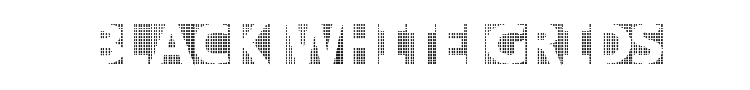 Black White Grids Font