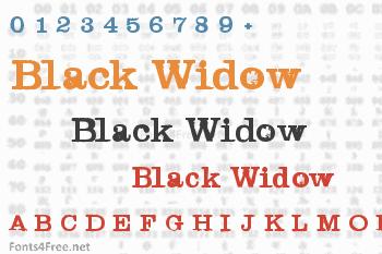 Black Widow Font