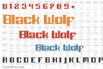 Black Wolf Font