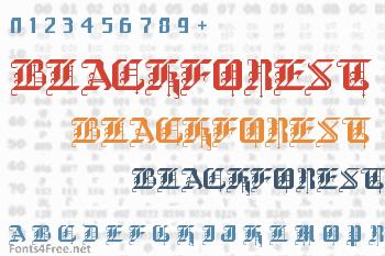 BlackForest Font