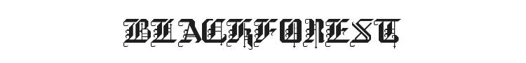 BlackForest Font Preview