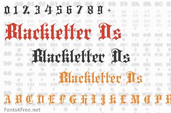 Blackletter Ds Font