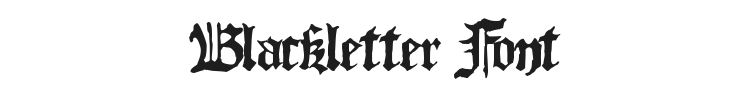Blackletter Font Preview
