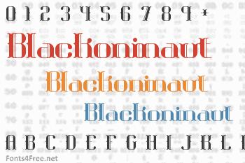 Blackoninaut Font