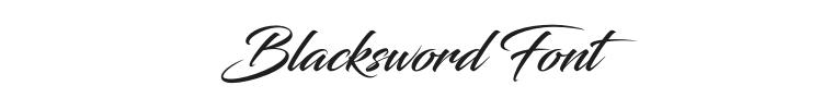 Blacksword Font Preview