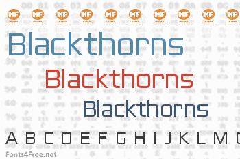 Blackthorns Font