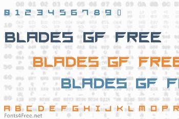 Blades GF Free Font