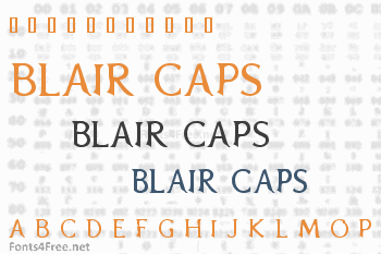 Blair Caps Font