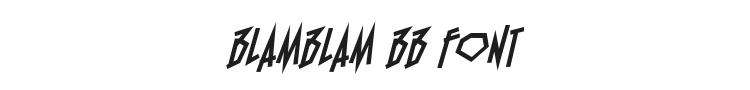 BlamBlam BB Font