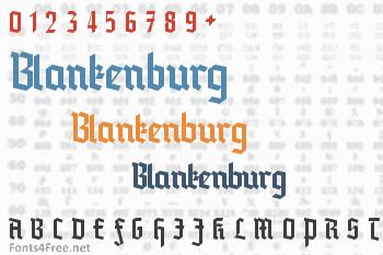 Blankenburg Font