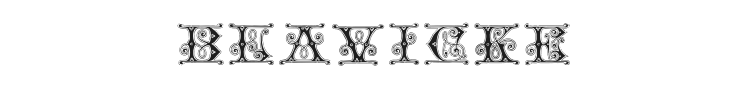 Blavicke Font Preview