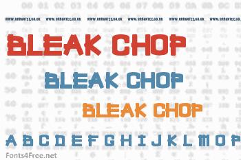 Bleak Chop Font