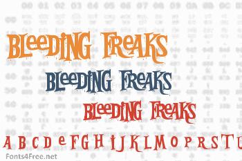 Bleeding Freaks Font
