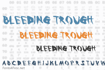 Bleeding Trough Font