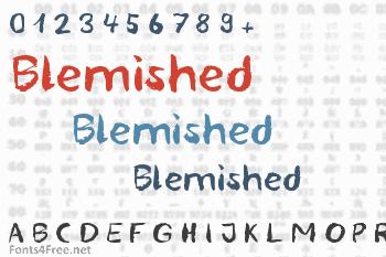 Blemished Font