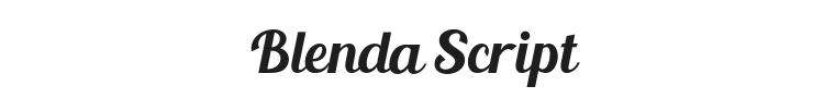 Blenda Script Font Preview