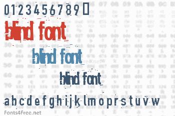 Blind Font
