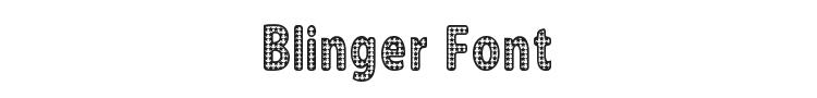 Blinger Font Preview