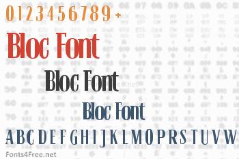 Bloc Font