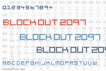 Block Out 2097 Font
