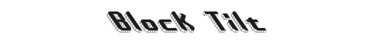 Block Tilt Font Preview