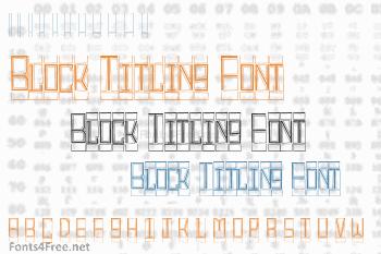 Block Titling Font